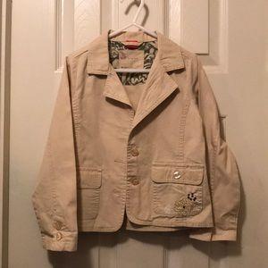 Girls Khaki Light Jacket/Blazer Size 5
